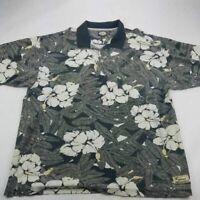 Tommy Bahama Mens Polo Shirt Multicolor Hawaiian Floral Short Sleeve Cotton XXL