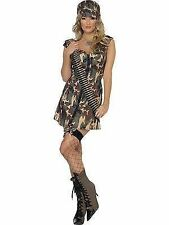 Army Girl Costume Womens Uniform Fancy Dress Outfit Smiffys 33829 M - Medium