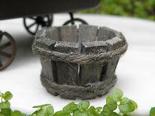 "Miniature Dollhouse FAIRY GARDEN Accessories ~ Rustic 1"" Wood Wooden Bucket NEW"