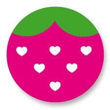 """Pin Button Badge Ø25mm 1"""" Fraise Strawberry Kawaii Mignon"""