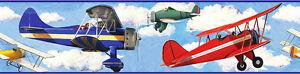 RoomMates  Bordüre Flugzeuge in den Wolken Tapeten Borte Kinderzimmer selbstkl