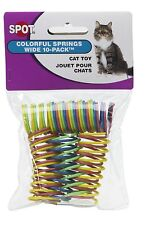 ETHICAL SPOT COLORFUL SPRINGS WIDE 10 PACK CAT TOY.. FREE SHIPPING IN THE USA