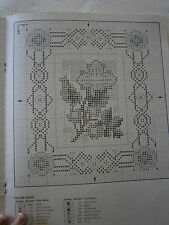 Designs for Counted Cross Stitch Leaflet Pattern Book Current Flowers Home Sampl