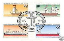 Berlin 1977: Schiffe! Jugendmarken Nr 544-547 mit ovalem Ersttags-Sonderstempel!