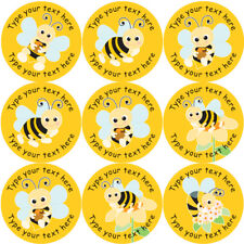 144 Personalised Buzzing Bees 30mm Reward Stickers for School Teachers, Parents