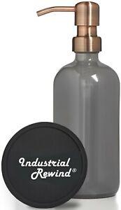 Gray Soap Dispenser w/ Copper Soap Pump 8oz Soap Lotion Dispenser Soap Holder