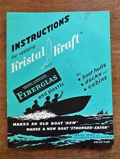 1959 Kristal Kraft Boat Fiberglass Product Application Instructions Booklet FL