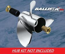 Ballistic XHS 10 1/8 x 15 933015 Stainless Propeller Nissan Tohatsu 25 - 30HP