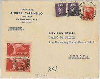 ITALIA LUOGOTENEZA/ REPUBBLICA: storia postale - AFFRANCATURA MISTA - ESPRESSO