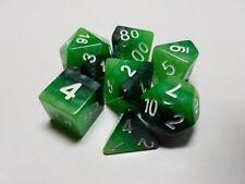 HD DADI ARCOBALENO 7 x SET DI DADI poliedrico Emerald D&D RPG