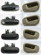 SET OF 8 PCS Outside & Inside Door Handle BLACK/BEIGE for 98-02 TOYOTA COROLLA