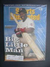 Sports Illustrated April 6, 1992 Kirby Puckett Twins MLB NCAA Michigan Apr '92 E