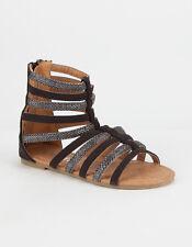 YOKIDS Val Sparkle Glitter Gladiator Sandals Size 11 12 Black/Silver Beige/Gold