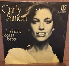 "Carly Simon ‎– Nobody Does It Better 7"" Vinyl Single (Dutch Import)"