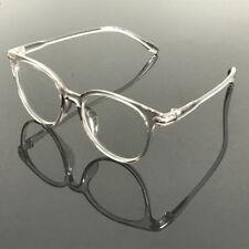Fashion Retro Gray Transparent Eyeglass Frames Full Rim Myopia Rx able Glasses