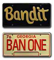 Smokey and the Bandit | Burt Reynolds Trans Am | Metal Stamped Prop Plate Combo