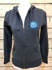 Pearl Izumi Women's zip-up hoody jacket Size S blue hand pockets organic cotton