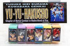 Yu-Yu Hakusho Mini Eraser Set Hiei Kurama Yusuke Kuwabara Japan Anime Manga