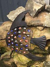 Nuevo Metal De Pescado Decoración Para Colgar En Pared Arte Adorno De Jardín Jardín Al Aire Libre