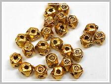 50 kleine Metallperlen gold Würfel 3*3mm Perlen goldfarben