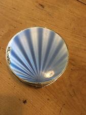 Art Deco 1926 Solid Silver & Guilloche Enamel Rouge Pot