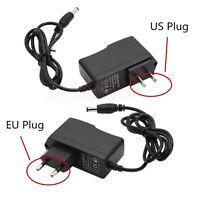 New Power Supply AC 100-240V To DC 12V 1A Adapter Plug US EU For LED Strip Light