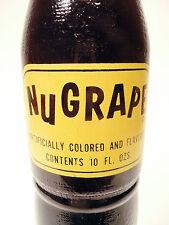 vintage ACL Soda POP Bottle:  full grape NUGRAPE of  CAMPBELLSVILLE, KY-- 10 oz