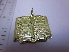 14KT GOLD PLATED 10(TEN) COMMANDMENTS RELIGIOUS CHARM PENDANT-A75A