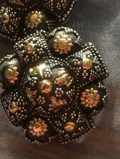 JOHN HARDY Leverback Earrings .925 Sterling Silver w/ 18kt Gold Beautiful