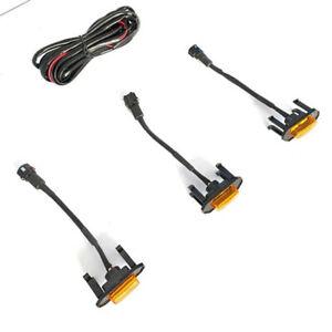 3pcs LED Amber Grille Lights Decoration For 09-18 Dodge RAM1500 2500