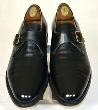 $648 Brooks Brothers Peal & Co by Crockett & Jones Black Monk Strap Shoes 10.5 C
