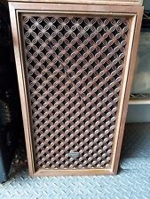 Vintage Pair - Panasonic SB-350 4-Way Speakers Wood Cabinets WITH Waffle Grills!