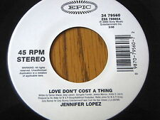 "JENNIFER LOPEZ - LOVE DON'T COST A THING    7"" VINYL UNPLAYED"