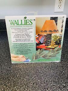 WALLIES Wallpaper Cutouts 25 Laurel Leaf Wallies NEW 12919