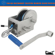 700 KG MARINE HAND WINCH ANTI-CORROSION COATED 5:1 1:1 6mm x 10M WINCH ROPE 4WD