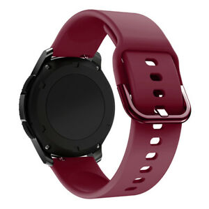 For Samsung Galaxy Watch 42/46MM Active 2 Replacement Silicone Strap Sports Band