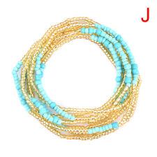 Bohemian Colorful Double Row Beads Body Chains Belly Waist Beach Chains Jewel JO
