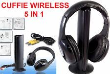 Cuffie Wireless senza fili.5 in 1,con microfono,radio FM,Hi-Fi,musica. Cuffia