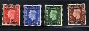 Great Britain King♔ George VI 1936 Set Overprinted Morocco Agencies MNH FILED