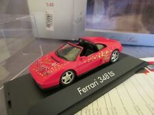 316F Herpa Exclusiv Série Ferrari 348TS Merry Christmas 1994 Rouge 1:43