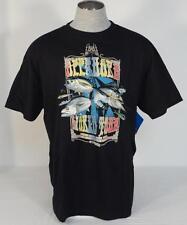 Columbia Off Shore World Tour Black Short Sleeve Tee Shirt Mens Medium M NWT