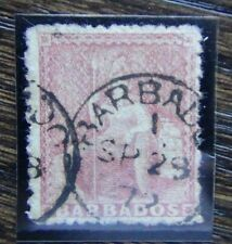 Barbados 1860 4d Britannia Red Used