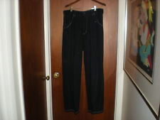 """ARMANI JEANS PANTS MADE IN ITALY BLUE WHITE STICHING XL -36"""" Waist"""