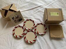 Longaberger Peppermint Twist Coasters - Set Of 4 - New!