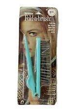 Vintage The Original Fold-a-Brush Full Size Hair Brush Pocket Blue #Fb-22 Stance