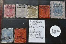 BRITISH SOMALILAND VICTORIA 1903 PART SET S.G.2-18 & 20 MINT HINGED VGC