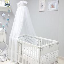 Baby-Joy Betthimmel für Babybett/Kinderbett ZICK-ZACK Linie Chiffon Moskitonetz