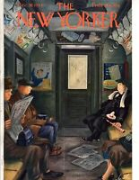 1944 New Yorker Cover- December 30 - Taking the Subway home - Alajalov