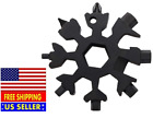 18 in 1 Portable Snowflake Multi Tool Stainless Screwdriver Key Chain COLOR
