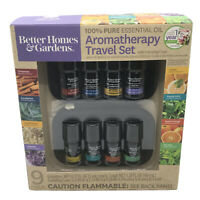 Better Homes & Gardens 100% Pure Essential Oil Aromatherapy 9 Pc Travel Set New